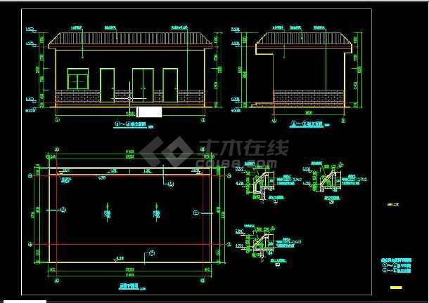 污水处理厂辅助用房建筑施工图-图1