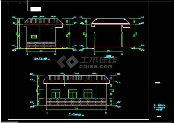 污水处理厂辅助用房建筑施工图-图2