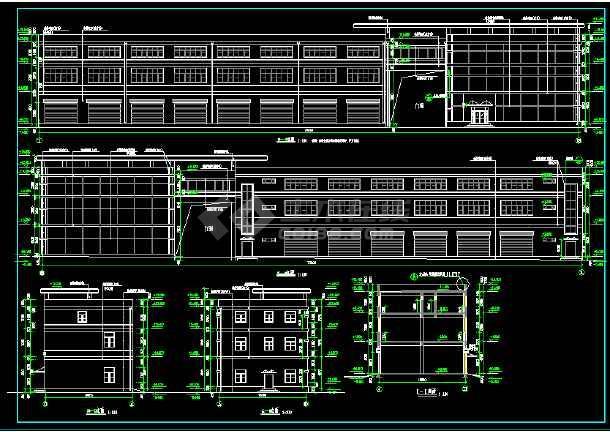某三层厂房全套建筑设计施工方案图-图3