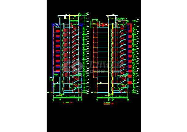 某商住楼酒店办公楼建筑CAD设计施工图纸-图1