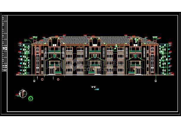 某复试住宅楼建筑施工cad设计方案图纸