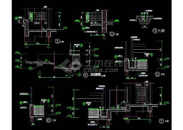 常用装修节点大样cad设计施工图-图1