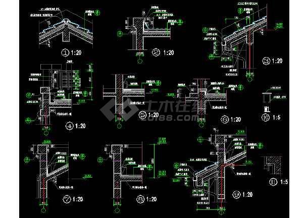 常用装修节点大样cad设计施工图-图2