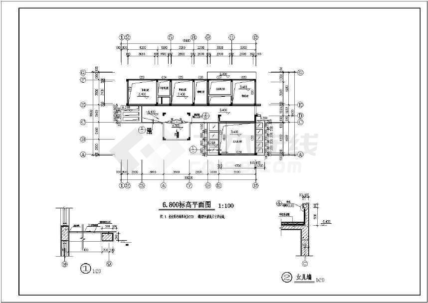 某地一套豪华现代别墅施工图(含设计说明)-图2