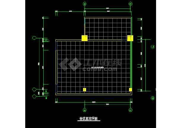 某会议室装饰设计CAD全套详图图纸-图2