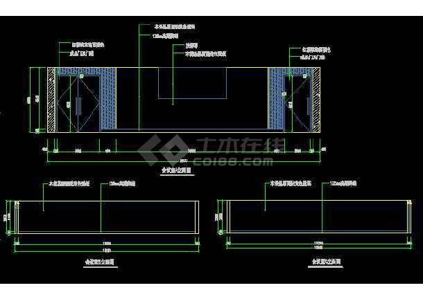 某会议室装饰设计CAD全套详图图纸-图3