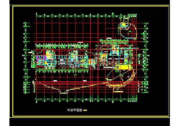 某商业综合楼全套建筑施工CAD设计图纸-图2