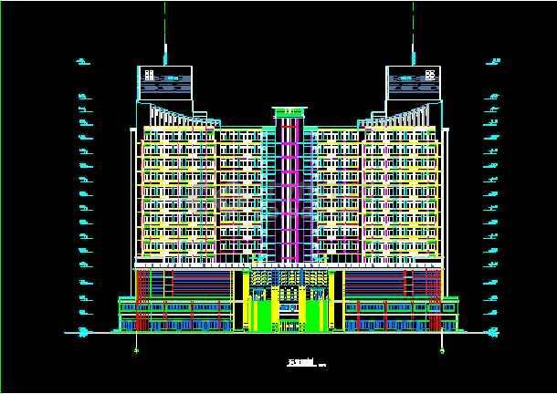某假日广场建筑CAD施工设计平立面图纸-图1