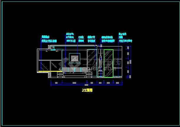 某户型样板房装饰工程设计CAD图纸-图2