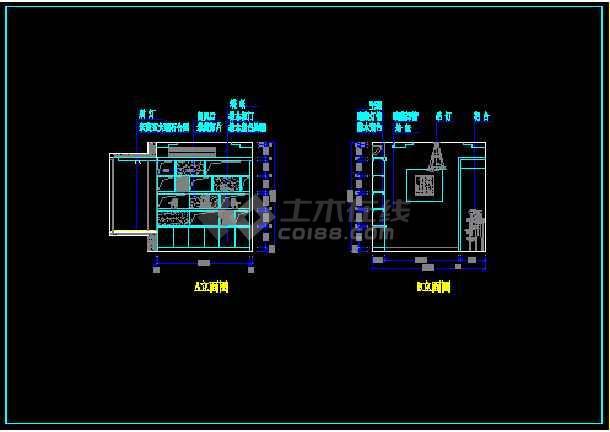 某户型样板房装饰工程设计CAD图纸-图3