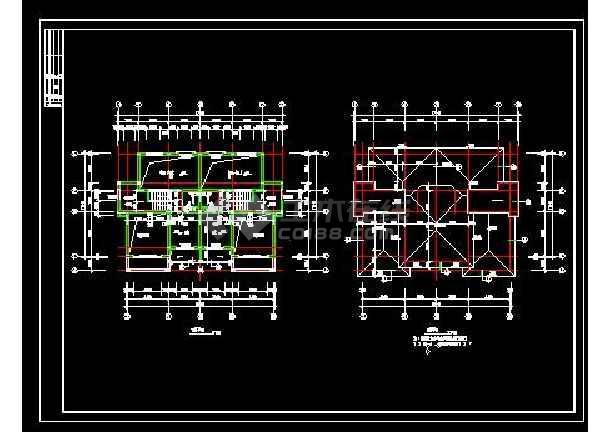 山体别墅楼建筑施工cad设计方案图纸-图2