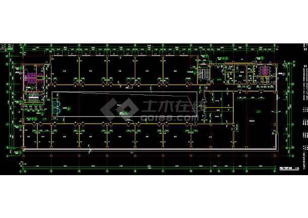 北方某机场综合楼平面装修设计方案cad施工平面图纸-图1