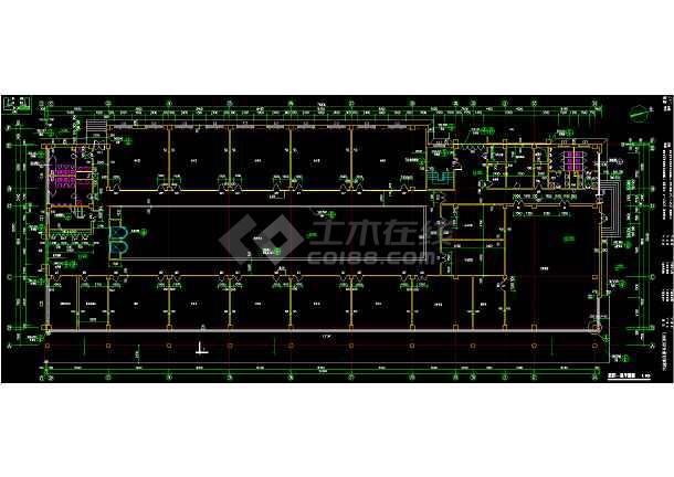 北方某机场综合楼平面装修设计方案cad施工平面图纸-图3