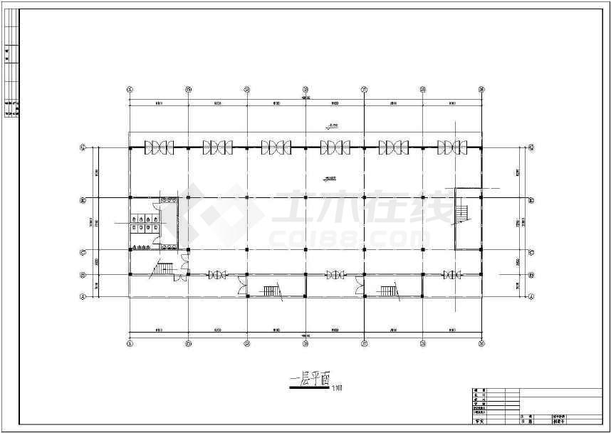 某地大型招待所建筑施工图(共10张)-图1