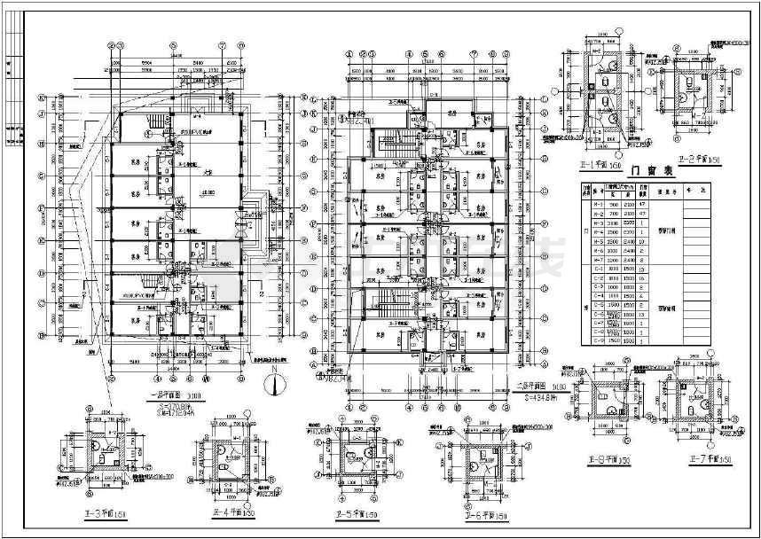 某地标准招待所建筑施工图(共4张)-图2