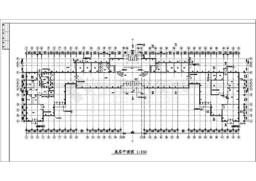 某大型余杭茶馆CAD建筑施工图(共12张)-图2