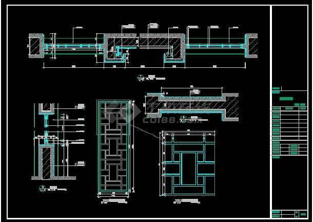 某酒店大堂立面装修设计CAD详图图纸-图2