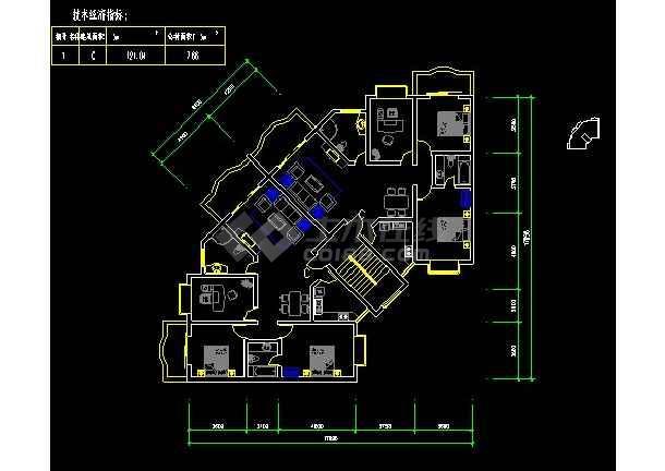 某百余种住宅户形平面装修设计图纸-图1