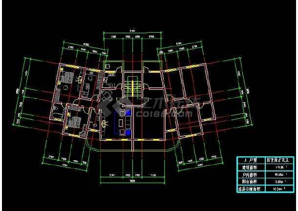 某百余种住宅户形平面装修设计图纸-图3