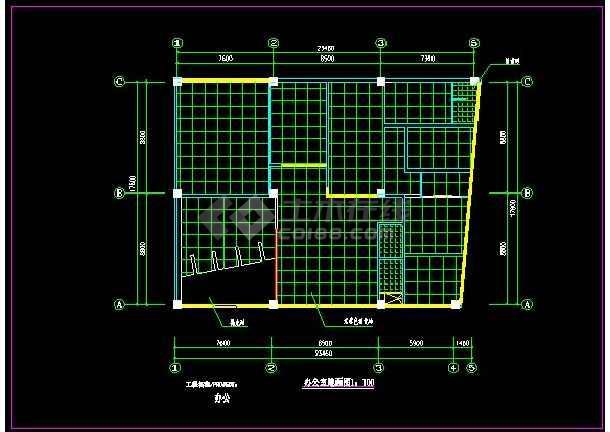 某办公室精装修装饰详情CAD图纸-图3