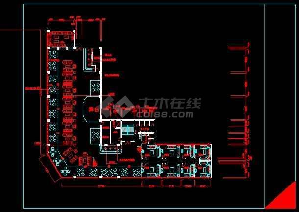 某KTV包箱装修施工设计CAD详情图-图1
