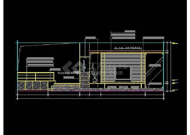 某客厅装修设计CAD详情全套图纸1-图3