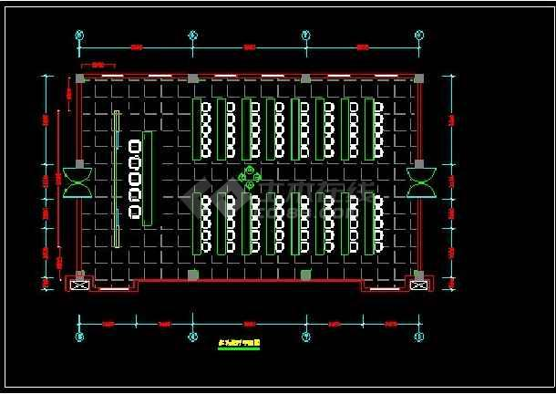 某办公楼全套装修设计CAD详情图纸-图2