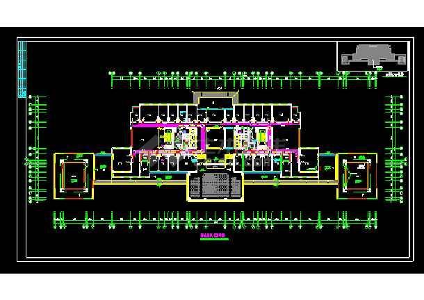 南方某农业大学综合办公楼暖通cad设计图-图1
