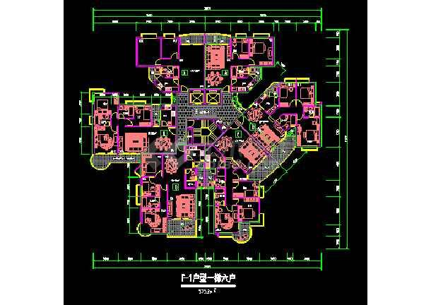 深圳男装建筑施工v男装CAD塔楼平面图户型服装设计图手绘图片