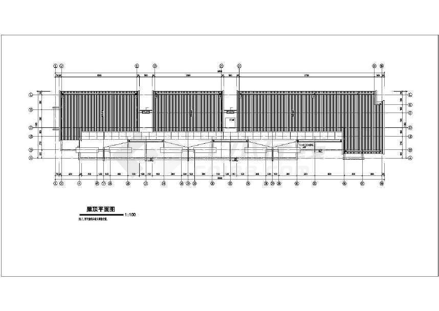某地详细的扬子名苑16#建筑施工图(平立剖)-图2