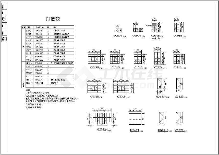 中国古典某地大型别墅建筑CAD施工图-图1