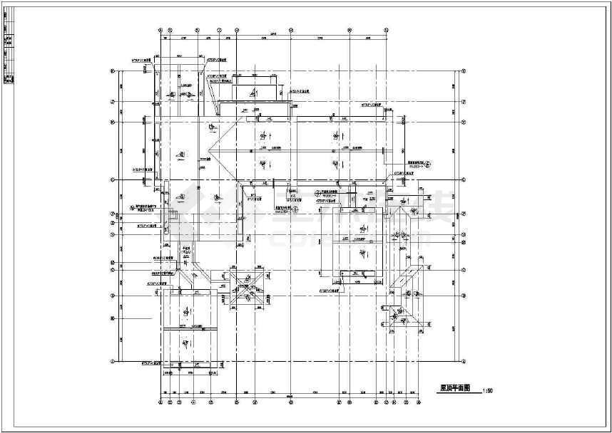中国古典某地大型别墅建筑CAD施工图-图3