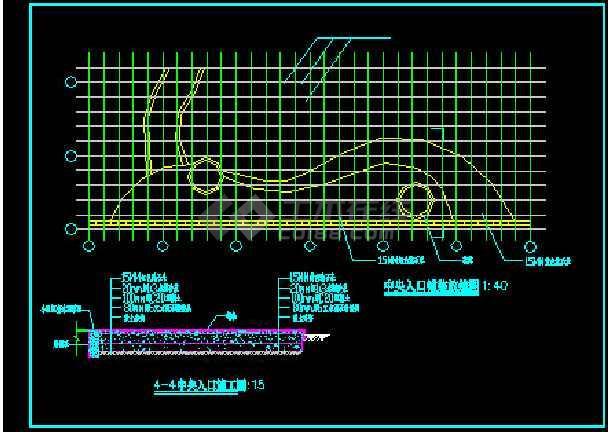 某花架、景门施工施工CAD详情图-图1