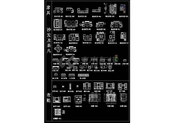 某CAD建筑材质素材总图详情图纸-图3