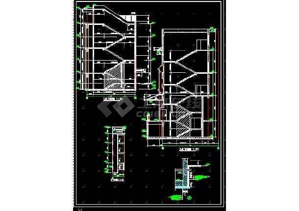 安达综合楼建筑施工cad设计方案图纸-图1
