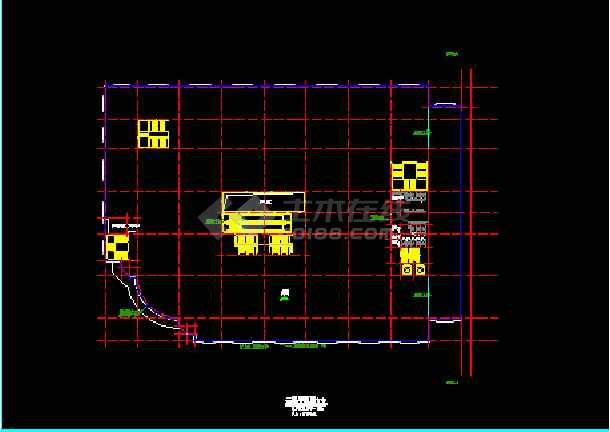 某商厦建筑CAD设计总平面及各层平面图-图2