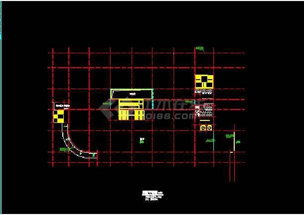 某商厦建筑CAD设计总平面及各层平面图-图3