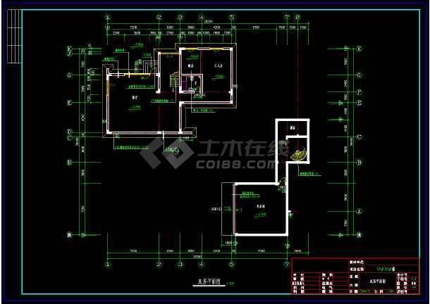 某市某豪华别墅建筑cad设计施工图-图1