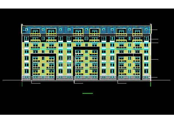 某7层框架坡屋顶住宅楼CAD设计施工图-图1