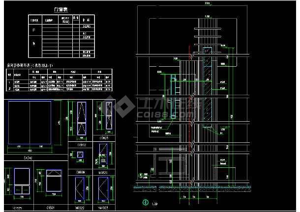某地大门完整CAD平面设计施工图纸-图3