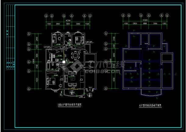 某市别墅样板房cad设计建筑竣工图-图2