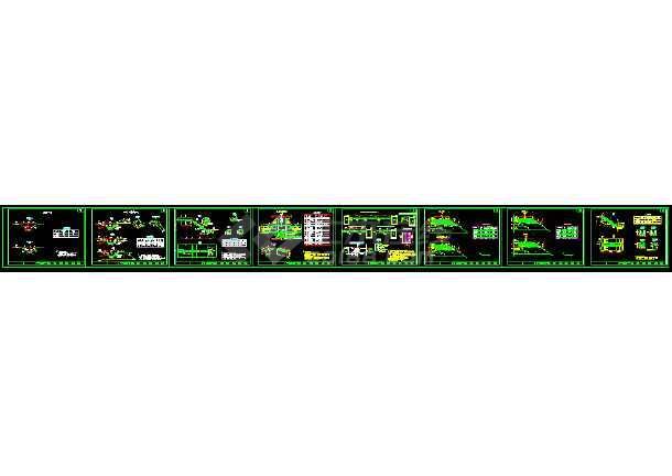 某高速公路路基命令绘图施工cad详细设计图纸cad2004菜单栏排水路面图片