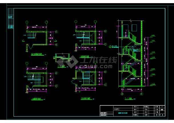 某市某高档别墅cad设计施工图纸-图1