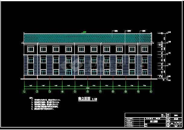 某市办公楼cad平面装修施工图纸-图1