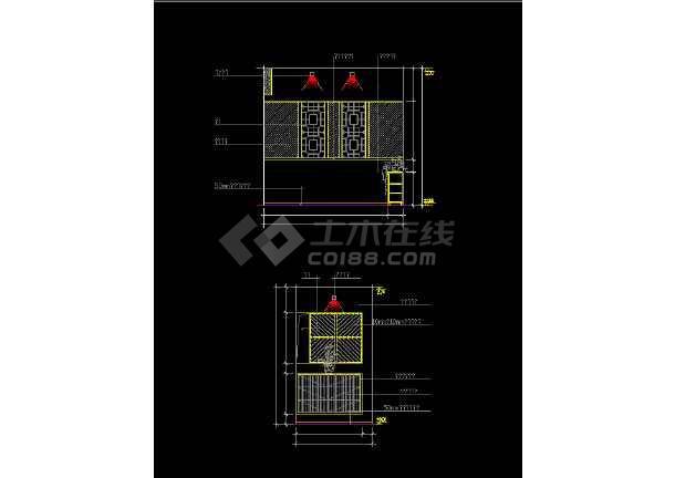 室内家装常用玄关素材cad设计图集-图1
