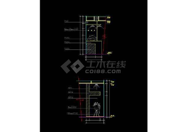 室内家装常用玄关素材cad设计图集-图2