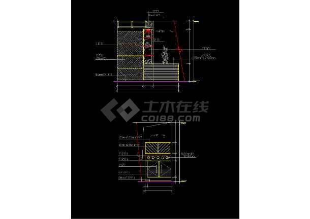 室内家装常用玄关素材cad设计图集-图3