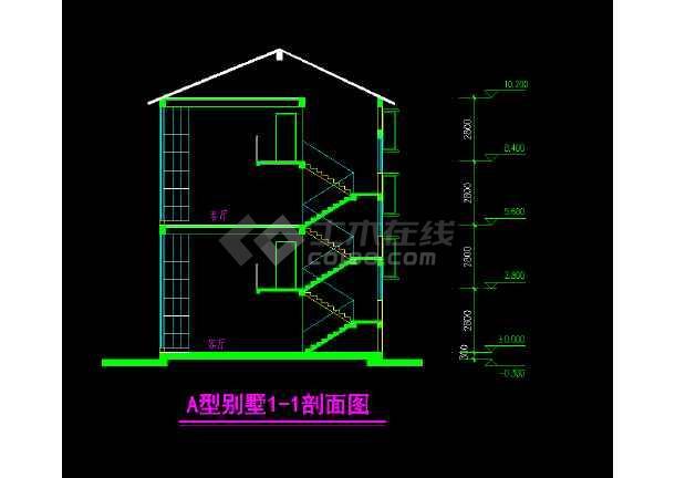 某市叠加方案别墅cad设计施工图纸-图2