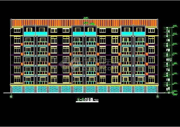 某市单元式多层住宅建筑CAD设计施工图-图1