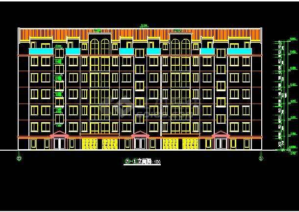 某市单元式多层住宅建筑CAD设计施工图-图2